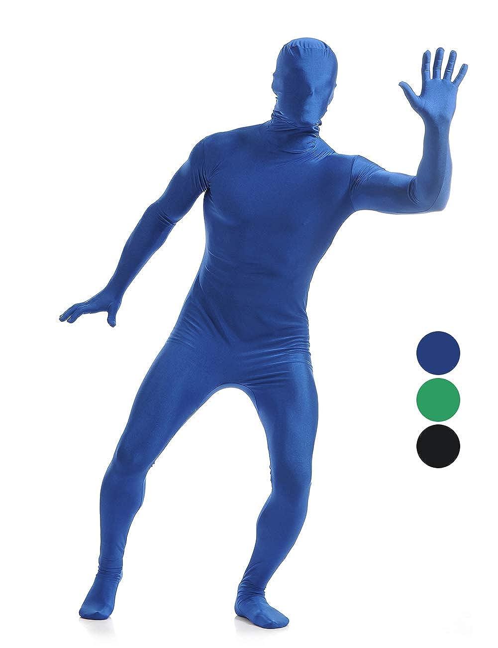 Amiliashp Men's Halloween Costume Zentai Suit Full Body Spandex Lycra Unitard Suit Second Skin Bodysuit Super Suit Costume