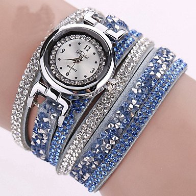 Amazon.com: Fashion Watches Relojes Mujer 2016 Fashion Women Watches Bracelet Leather Watch Strap Weaving Dress Digital Watch Clock Wrist Watches Relogio ...