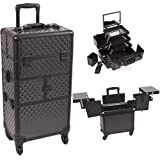 Black Dmnd Trolley Craft / Quilting Storage Case - I3564