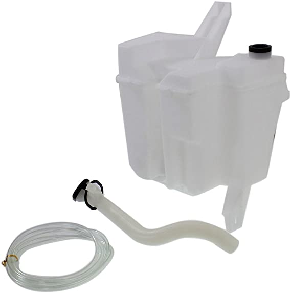 Windshield Washer Tank Assembly compatible with Nissan Versa 07-11//Nissan NV200 13-17 W//Pump Inlet Hose and Cap