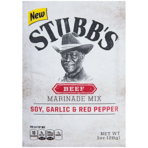 (Stubb's Soy, Garlic & Red Pepper Beef Marinade Mix, 1 oz)