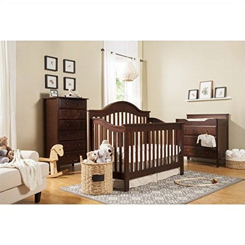 DaVinci Jayden 4-in-1 Convertible Wood Baby Crib with Toddler Rail in Espresso Review