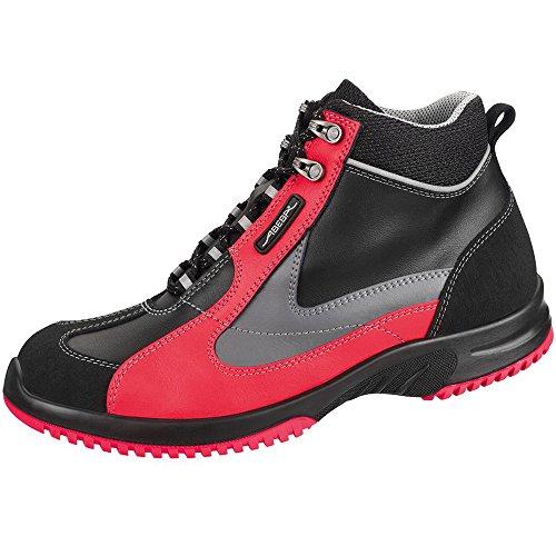 Abeba 1792-48 Uni6 Chaussures de sécurité bottes Taille 48 Noir/Rouge