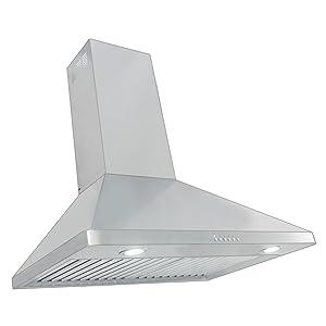 "Proline PLJW 129.30 30"" Wall Mount Range Hood - 4 Speed - 900 CFM Blower - Stainless Steel Professional Baffle Filters Dishwasher safe"