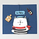 Society6 French cat, Le Meow... Throw Blankets 88'' x 104'' Blanket