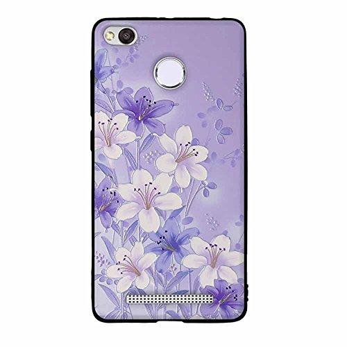Funda Xiaomi Redmi 3x, FUBAODA [Flor rosa] caja del teléfono elegancia contemporánea que la manera 3D de diseño creativo de cuerpo completo protector Diseño Mate TPU cubierta del caucho de silicona su pic: 06