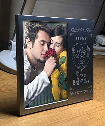 JOEZITON Romantic Personalized Love Gift 4x6 Picture Frame for Girlfriend or Boyfriend or Her or Him or Wife or Husband or Couples.