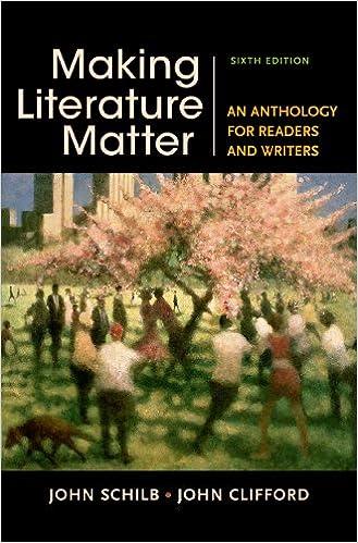 Amazon making literature matter an anthology for readers and making literature matter an anthology for readers and writers sixth edition fandeluxe Image collections