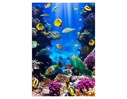 Fenster Wandbild Underwater Dreams Fenster Aufkleber Fensterfolie Fenster Tattoo Glas Aufkleber Fenster Kunst Fenster dúcor Fenster Dekoration, Maße  108 cm x 72 cm
