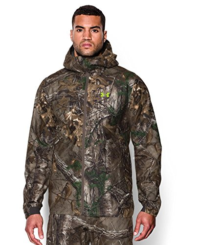 Under Armour Men's Storm Gore-Tex Essential Rain Jacket, Large, Realtree Ap-Xtra/Velocity