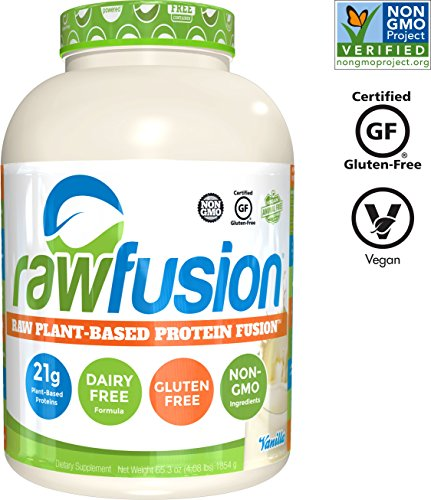SAN Nutrition RawFusion Plant Protein Powder, Vanilla Bean, 4 Pounds