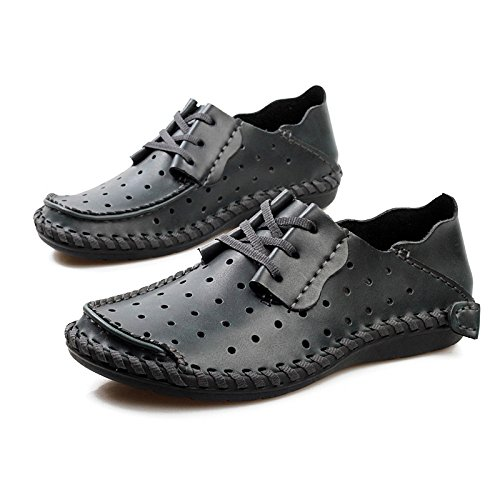 Trous Casual Wedding D'été à Black Plates Chaussures Office Respirant HGDR Mens Business Chaussures Cuir Lacets en Cwpn87q