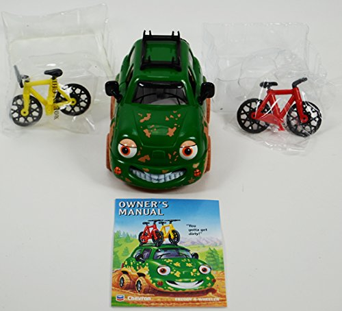 Chevron Cars Freddy 4-Wheeler with Mountain Bikes, 3 Piece (Chevron Cross)