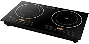 110V 2200W Portable Induction Cooktop(Double Countertop Burner) Electric Stove With Digital Touch Sensor 8 Power Levels Induction Cooker Suitable For Magnetic Cookware Usa Stock