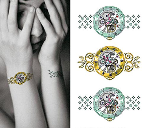 Cuerpo de klebbare temporales tatuaje Tattoo Pegatinas de pulsera Relojes tatuaje Tattoo Pegatinas: Amazon.es: Belleza