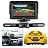Backup Camera Monitor Kit for car, universal license plate reverse Waterproof Night Vision Rearview HD Reversing Camera+4.3 inch LCD rearview Monitor