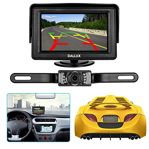 Trim License Area (Backup Camera Monitor Kit for car, Universal License Plate Reverse Waterproof Night Vision Rearview HD Reversing Camera+4.3 inch LCD Rearview Monitor)