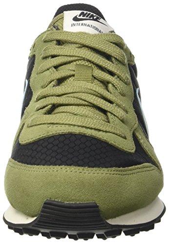 Nike Wmns Internationalist, Sandalias con Plataforma para Mujer Negro (Black/glacier Blue/palm Green/sail)