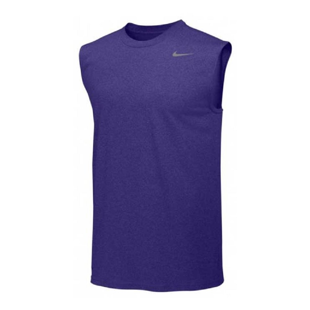 Nike Mens Legend Dri Fit Sleeveless T Shirt (Medium, Purple)