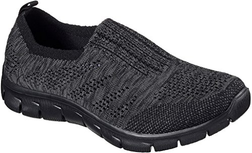 Skechers Women's Empire Inside Look Slip-On Sneaker,Black/Charcoal,US 8.5 W