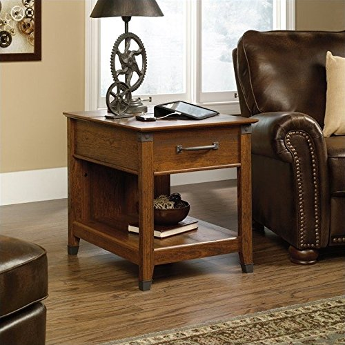 Sauder Carson Forge Smartcenter Side Table, Washington Cherry (Cherry Living Room End Table)
