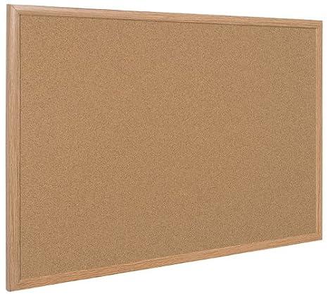 Bi-Office SF152001239 - Lavagna in Sughero Auto-Rigenerante Con Cornice Executive, Quercia, 120 x 90 cm, 1 pz.