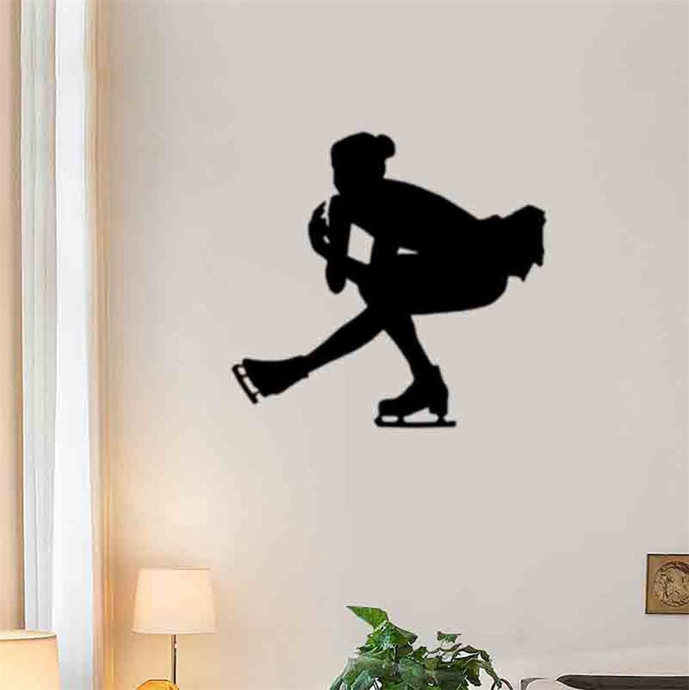 Diuangfoong Figure Skating Girl Wall Decal Ice Princess Removable Decoration Home Bedroom Ice Rink Decor