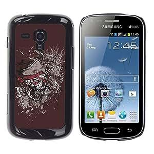 LASTONE PHONE CASE / Diseño de Delgado Duro PC / Aluminio Caso Carcasa Funda para Samsung Galaxy S Duos S7562 / Pirate Skull
