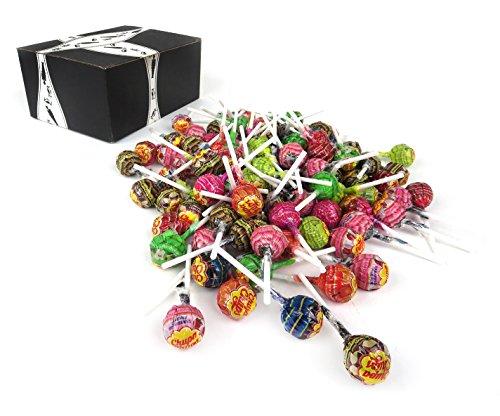 Chupa Chups Classic Assorted Lollipops, 3 lb Bag in a BlackTie Box