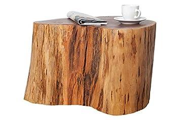 Dunord Design Beistelltisch Hocker Acacia 30cm Akazie Massiv