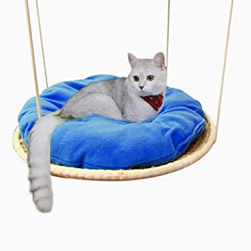 YUENA CARE Hamaca para Gato Gatito Hamaca para Gato Gatito Cama Colgante para Techo de Paja
