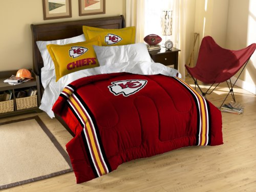 NFL Kansas City Chiefs Twin/Full Size Comforter with Sham Set by Northwest