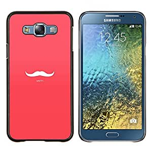 "Be-Star Único Patrón Plástico Duro Fundas Cover Cubre Hard Case Cover Para Samsung Galaxy E7 / SM-E700 ( Spiffy - rosado atractivo del bigote"" )"