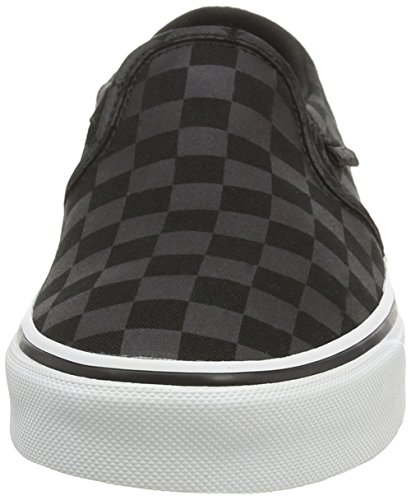 Basses Asher W Black Checker Blue Noir Vans Tint Black Washed Sneakers Femme qBI7nUw4