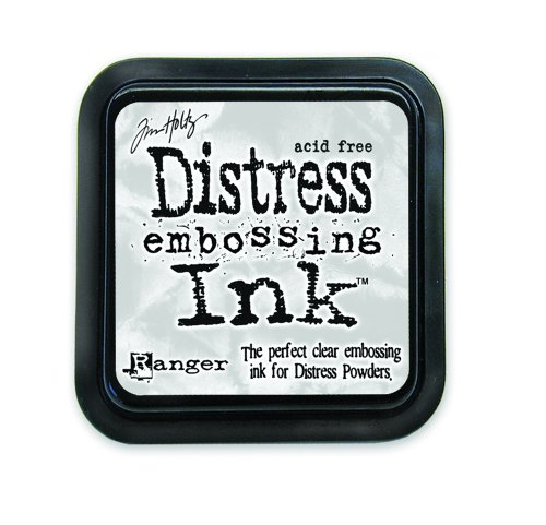 Clear Embossing Ink (Ranger Tim Holtz Distress Ink Pad, Clear For)