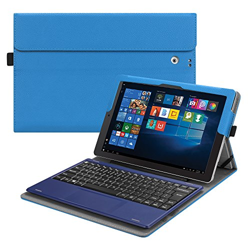 Fintie 2018 RCA Cambio 10.1 W101SA23T1S / W101SA23T2 Case - [Multi-Angle Viewing] Portfolio Business Cover for 10.1 inch RCA Cambio 2-in-1 Window Tablet with Kickstand, Royal Blue