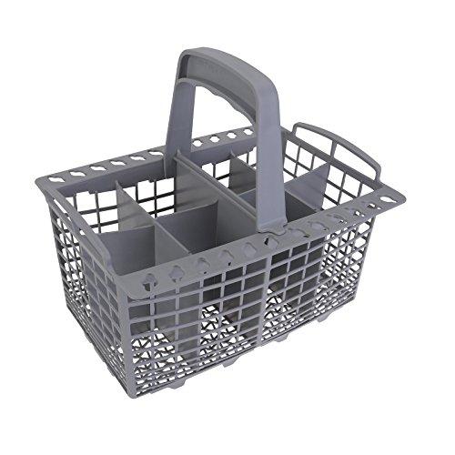 Qualtex Grey Dishwasher Cutlery Silverware Basket For Kenmore Whirpool Bosch Maytag KitchenAid Maytag Samsung AMANS GE 9