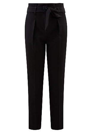Promod Pantalon Taille Haute Femme Noir 34  Amazon.fr  Vêtements et ... ec3ad79460a