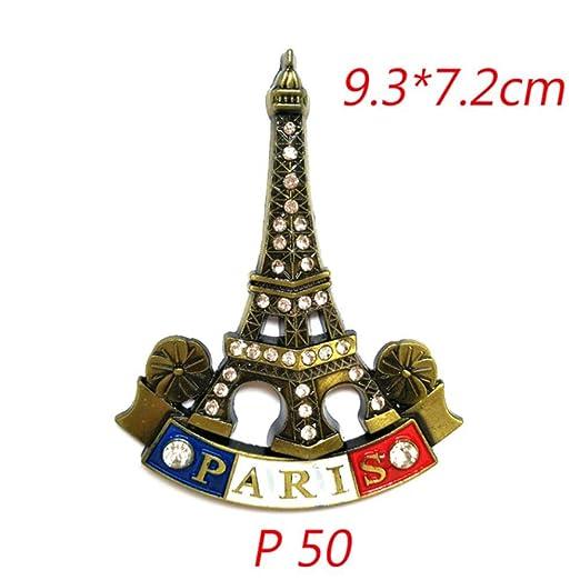 FUYIO Torre de París 3D Imán de Nevera Modelo de Edificio Famoso ...