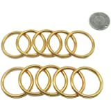 20 Pcs 1 Inch Gold Round Brass Rings, Metal Hoop Ring for Dream Catcher Crafts Accessories
