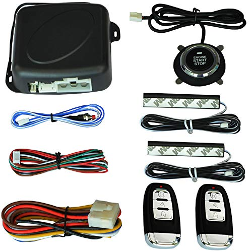 3T6B Passive Keyless Entry System PKE Engine Starter Push Button Vehicles Start/Stop Kit Safe Lock with 2 Smart Key ()