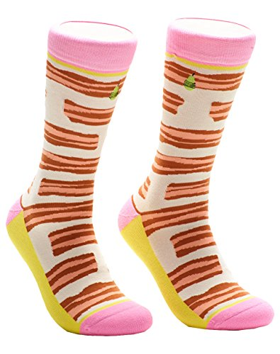Woven Pear, Women Bacon Socks, One Size