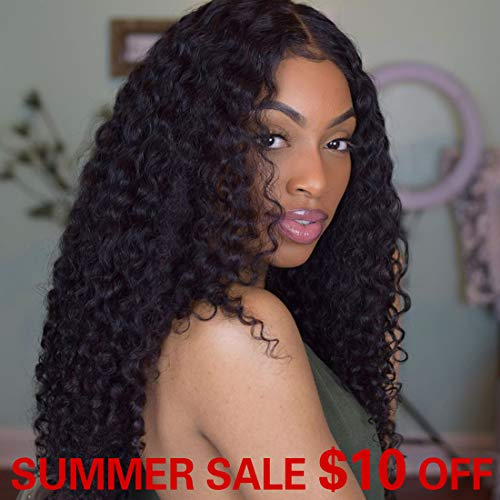 (SMHair 360 Lace Frontal Wig Pre-Plucked Hairline Brazilian Virgin Glueless 360 Human Hair Wigs for Black Women Natural Color and Baby Hair (20inch with 150% density))