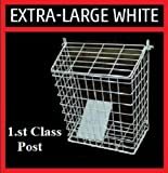 LETTERBOX CAGE Post Door Letter Mail Box Guard WHITE Extra Large