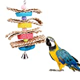 Rubyyouhe8 Bird Accessories&Pet Bird Parrot Parakeet Cockatiel Bell Towel Gourd Chew Bite Toy Hanging Cage Colorful Bird Parrot Toys Hanging Toy for Parakeets Cockatiels Small Pet