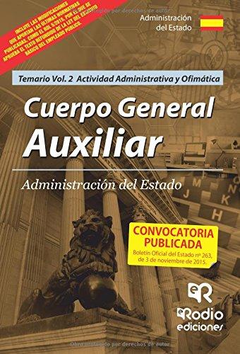 Descargar Libro Cuerpo General Auxiliar De La Administración Del Estado. Temario Volumen 2.: Volume 2 Noelia Diez Herrero