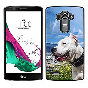 LOVE FOR LG G4 Sunny Dog Sea Ocean Pit-Bull Terrier Pet Personalized Design Custom DIY Case Cover