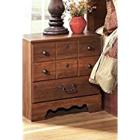 Timberline Two Drawer Night Stand Warm Brown