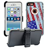 AlphaCell Cover compatible with iPhone 6 Plus/6S Plus (ONLY)   2-in-1 Screen Protector & Holster Case   Full Body Military Grade Protection with Carrying Belt Clip   Shock-proof Protective