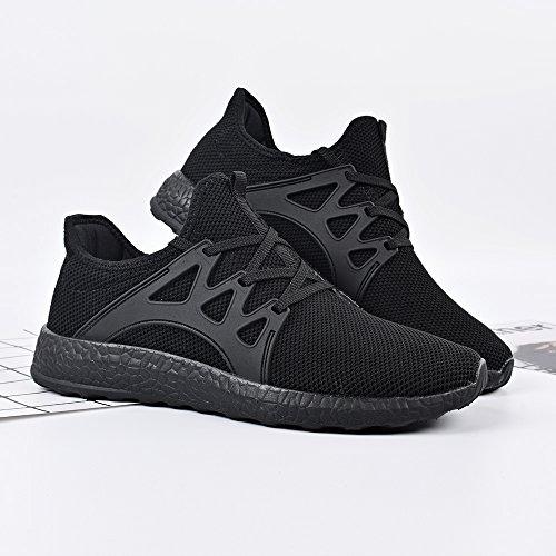 Corsa Scarpe Sportivi Ginnastica QANSI da Nero Scarpe da Confortevoli Sneakers Uomo Leggeri wYIaqY8